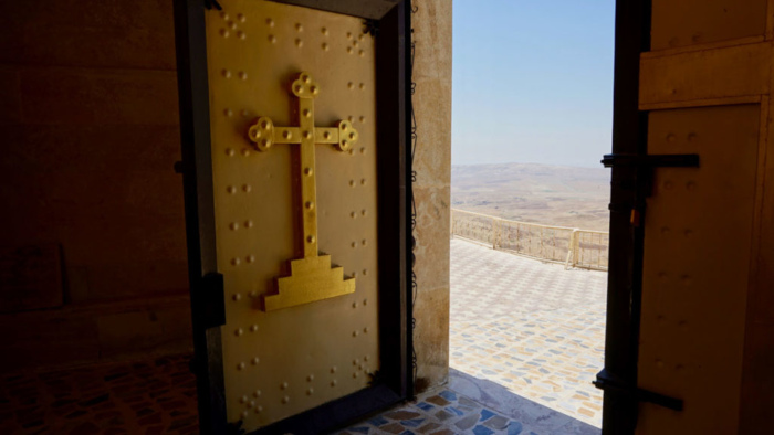 The entrance to St. Matthew's Monastery in northern Iraq.