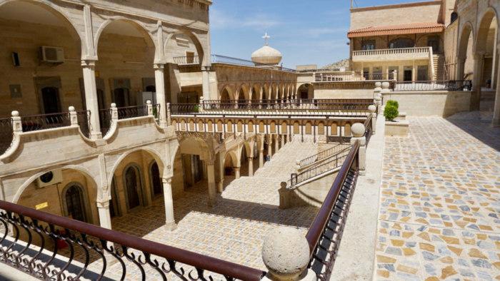 Inside St. Matthew's Monastery, one of the world's oldest Christian monasteries.