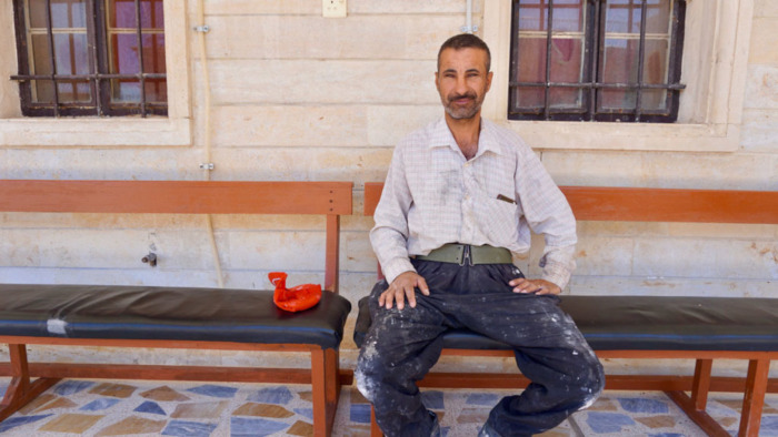 Besman Naif, 42, left Mosul in 2005 due to threats against Christians.