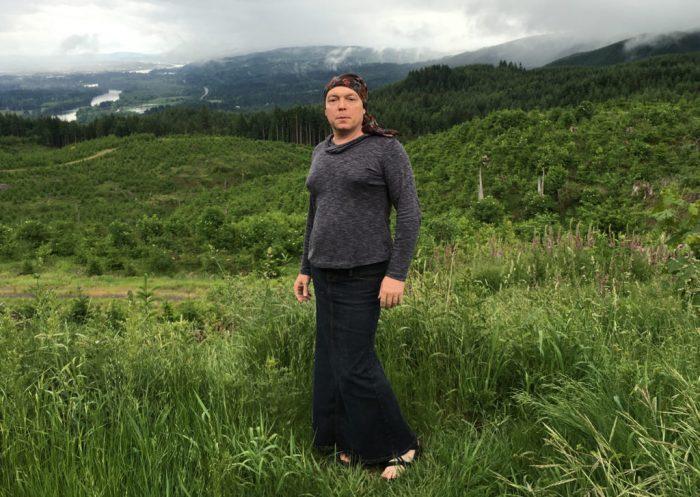 Jamie Shupe identifiying as nonbinary in June 2016. (Photo: Jamie Shupe)