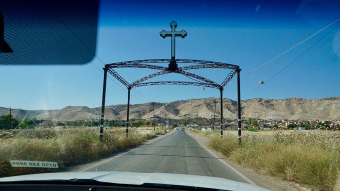 Approaching the Christian town of Alqosh in Iraqi Kurdistan.