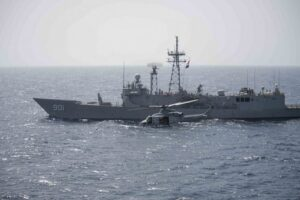 Marine Helicopter with Egyptian Ship