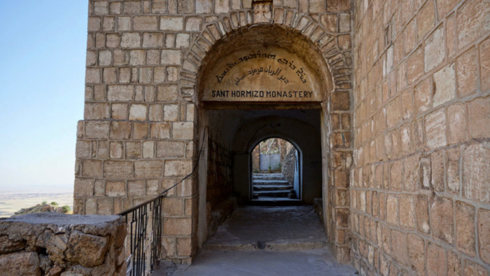 The entrance to the seventh-century Rabban Hormizd Monastery.
