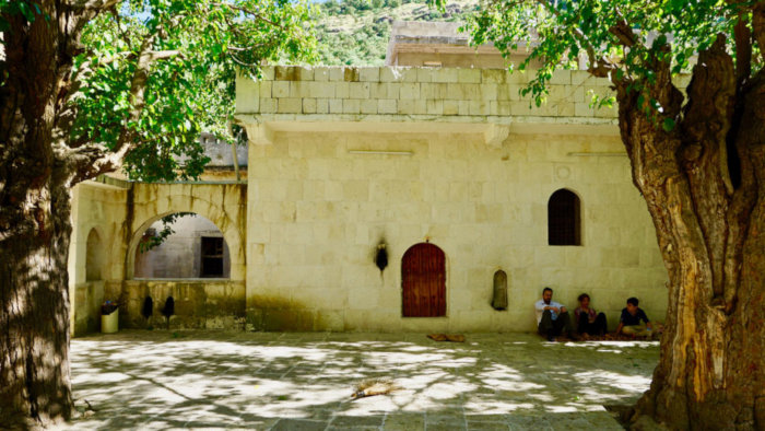 Inside the Yazidi holy city of Lalish in northern Iraq.