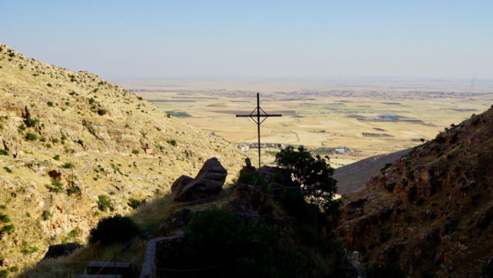 The view from the seventh-century Rabban Hormizd Monastery, looking south toward Mosul.