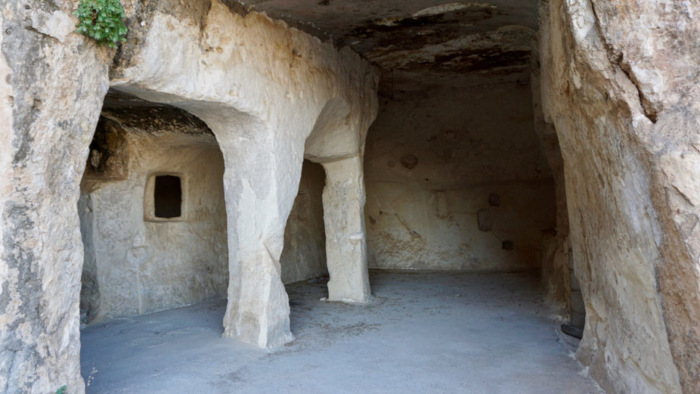 The Rabban Hormizd Monastery comprises a network of rooms carved into the rock.