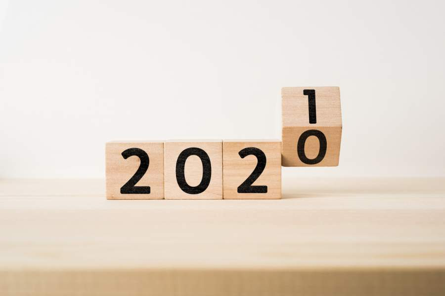 2020 number blocks become 2021