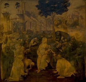The Adoration of the Magi, (1481)—Uffizi