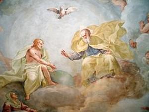 Holy Trinity, fresco by Luca Rossetti da Orta, 1738–9