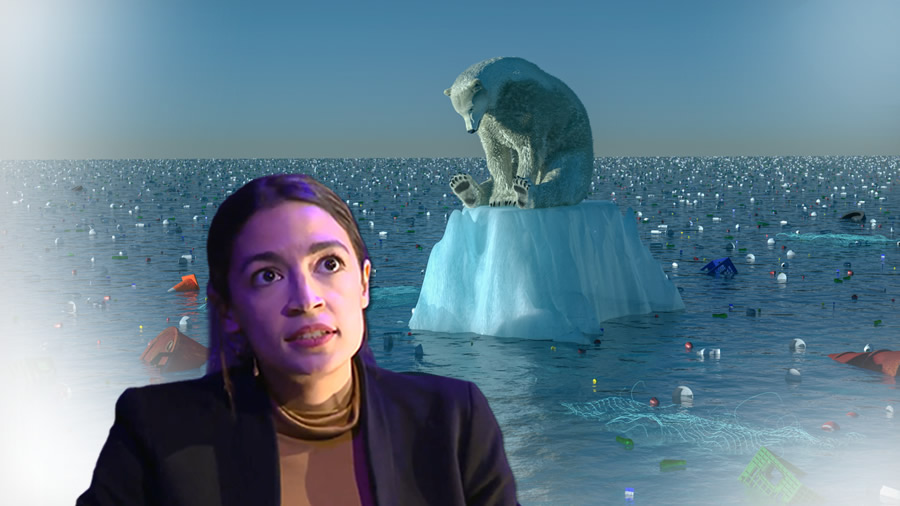 Alexandria Ocasio Cortez's Green New Deal: A Socialist Suicide Pact Worthy of Rev. Jim Jones AOC-Climate-Change