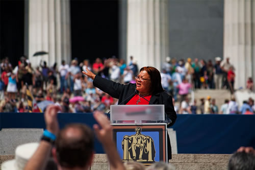 Alveda King speaks at a 2010 rally in Washington, D.C. (Photo: Luke X. Martin/Flickr)