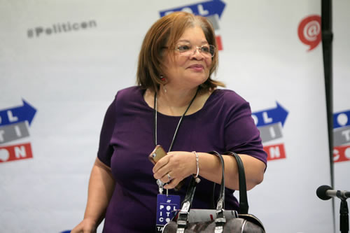 Alveda King speaks at the 2016 Politicon at the Pasadena Convention Center in Pasadena, California. (Photo: Gage Skidmore/Flickr)