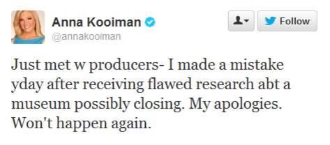 Anna Kooiman tweet