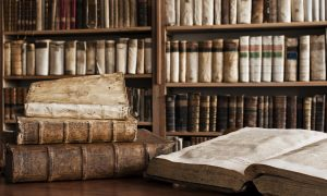 Antique Books in Library - 900