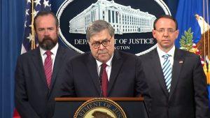 William Barr press conference Mueller report