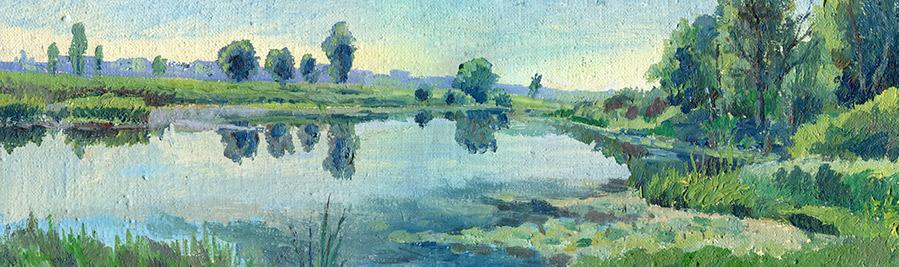 Blue Landscape Painting - 900