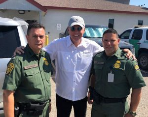Border Patrol Chief Karish, Mike Hayes, and Agent Escamilla