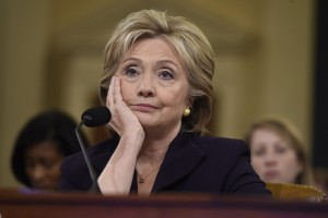 Former Secretary of State and Democratic Presidential hopeful Hillary Clinton testifies before the House Select Committee on Benghazi on Capitol Hill in Washington, DC, October 22, 2015. Clinton took the stand Thursday to defend her role in responding to deadly attacks on the US mission in Libya, as Republicans forged ahead with an inquiry criticized as partisan anti-Clinton propaganda.