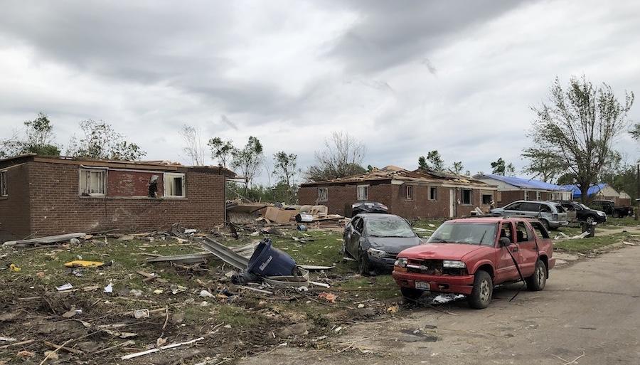 Cars, too, badly damaged in tornado