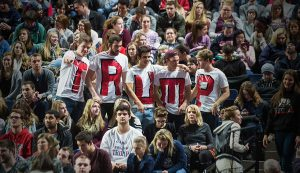 Supporters of U.S. Republican presidential candidate Donald Trump attend a rally at Liberty University in Lynchburg, Virginia, Jan.</body></html>