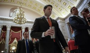 House Speaker Paul Ryan of Wis. walks to his office on Capitol Hill in Washington, Thursday, March 23, 2017. GOP House leaders delayed their planned vote Thursday on a bill to repeal and replace Obamacare.
