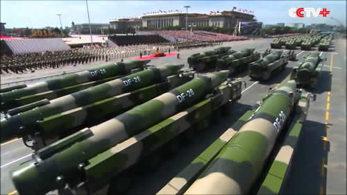 DF-26 missiles at 2015 WWII victory parade in Beijing.