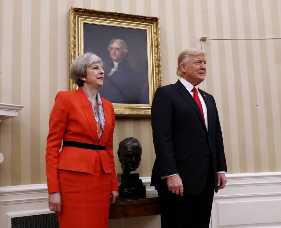 Trump pledges 39 lasting support 39 to us relations with britain the stream - Office of prime minister uk ...