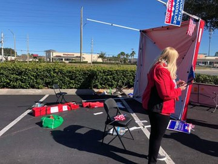Van Driver Plows Through GOP Voter Registration Tent in Florida | The Stream