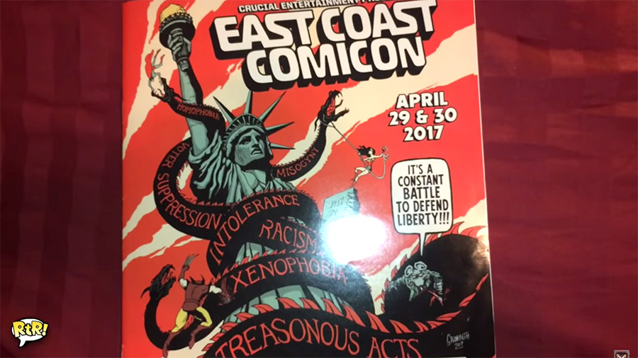 East Coast Comicon 2017 Program SJW Leftist Propoganda - 900