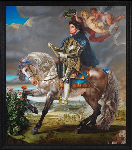 Kehinde Wiley. Equestrian Portrait of Phillip III, after Reubens (Michael Jackson), 2011