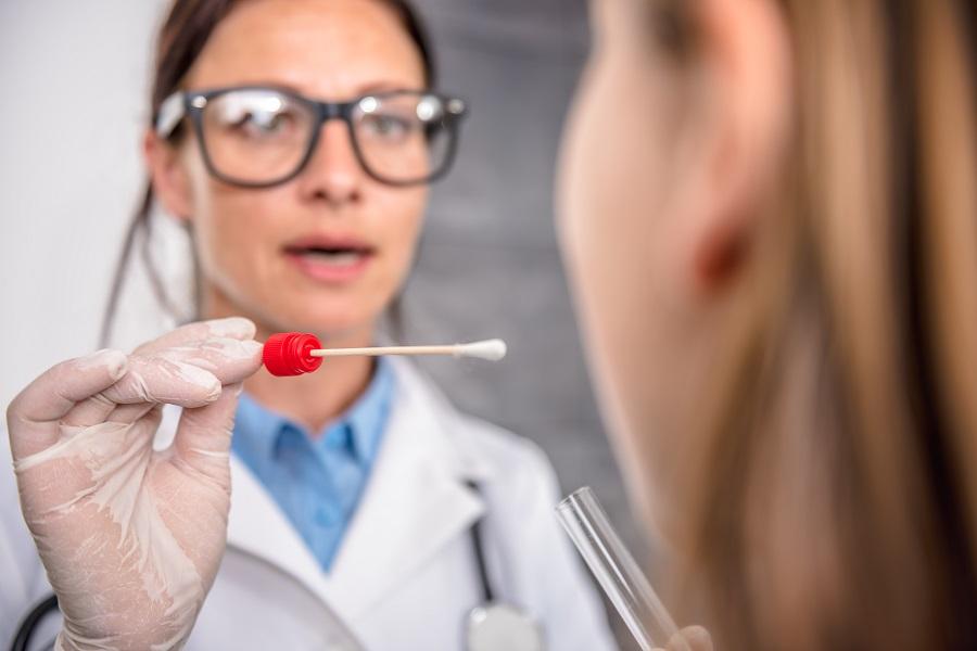 забор мазка изо рта после лечения