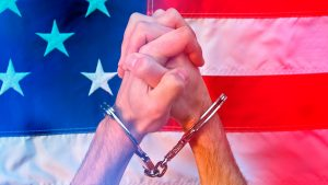 Freedom Tyranny America Handcuffs - 900