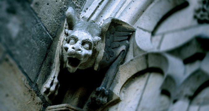 Gargoyle Dark Stone Church - 900