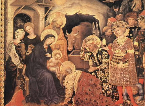 Gentile da Fabriano, Adoration of the Magi cropped