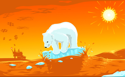 Global Warming Polar Bear - 400