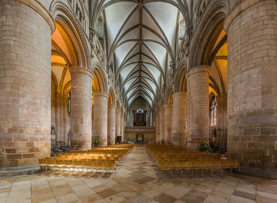 Gloucester Cathedral Interior - 900
