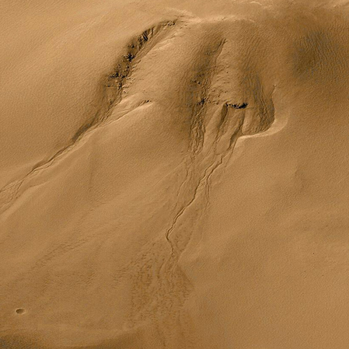 Evidence for Recent Liquid Water on Mars: Gullies in Crater Wall, Noachis Terra