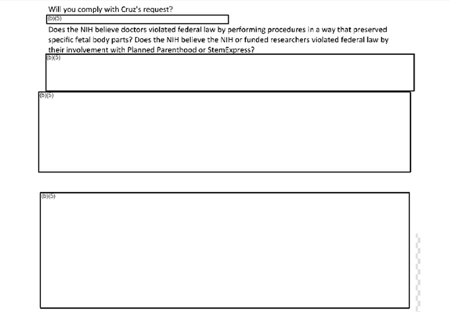 HHS redacted emails