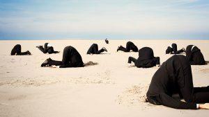 Heads in the Sand Buried Denial Ignorance Media Bias - 900
