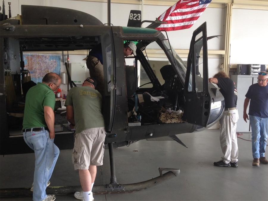 Huey 823 Vietnam Helicoptor Restoration - 900