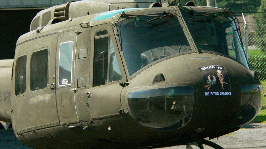 Huey 823 Vietnam Helicoptor Restored - 900