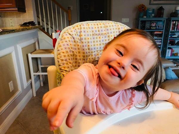 Down Syndrome - Natalie smiles
