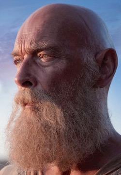 James Faulkner, as the Apostle Paul.