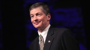 U.S. Congressman Jeb Hensarling speaking at the 2015 Reagan Dinner for the Dallas County Republican Party in Dallas, Texas.