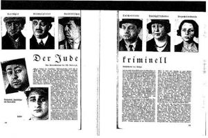 "An article on ""The Criminal Jew"" in a 1935 Nazi periodical."