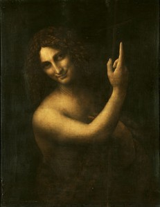 Leonardo's St John the Baptist (1513-1516). Louvre, Paris.