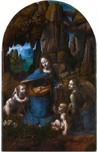 Virgin of the Rocks (1480s), National Gallery, London