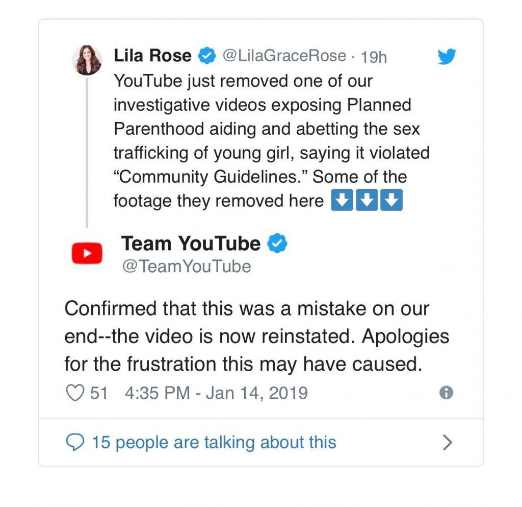 Lila Rose Tweet