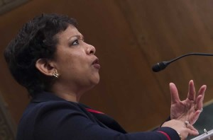 In this Feb. 25, 2016, file photo, U.S. Attorney General Loretta Lynch testifies before the Senate Appropriations Committee on Capitol Hill in Washington, D.C.