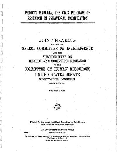 MKUltra Commitee Hearing - 900